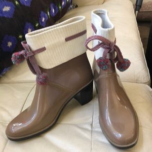 MARC by MARC JACOBS Holiday Rain Booties Size 7